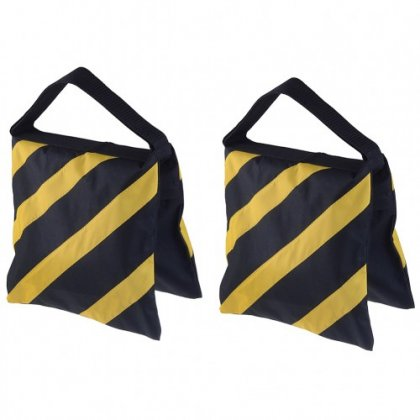 Neewer Set of Two Black//Blue Heavy Duty Sand Bag Photography Studio Video Stage Film Sandbag Saddlebag for Light Stands Boom Arms Tripods