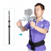 SBONY® Retractable Waist DSLR Rig Support Rod and Belt with 3/8\ Screw fit Shoulder Mount Video Camcorder Camera DV/DSLR